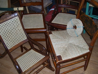 chair caned seats